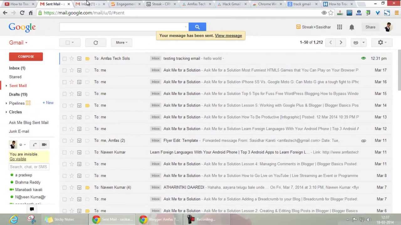 How To Track Sent Mail Read Unread Status In Gmail Youtube Honda Trx 250 Wiring Connector