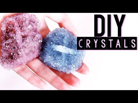 Diy Crystals Using Any Rock  Tumblr Inspired Room Decor