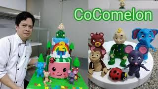 How to make Edible 3D CoComeLon theme, Birthday Cake