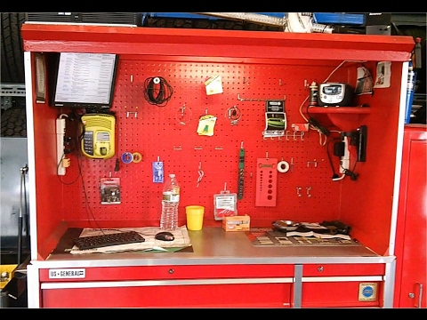 custom top hutch for 56 inch harbor freight tool box. - youtube