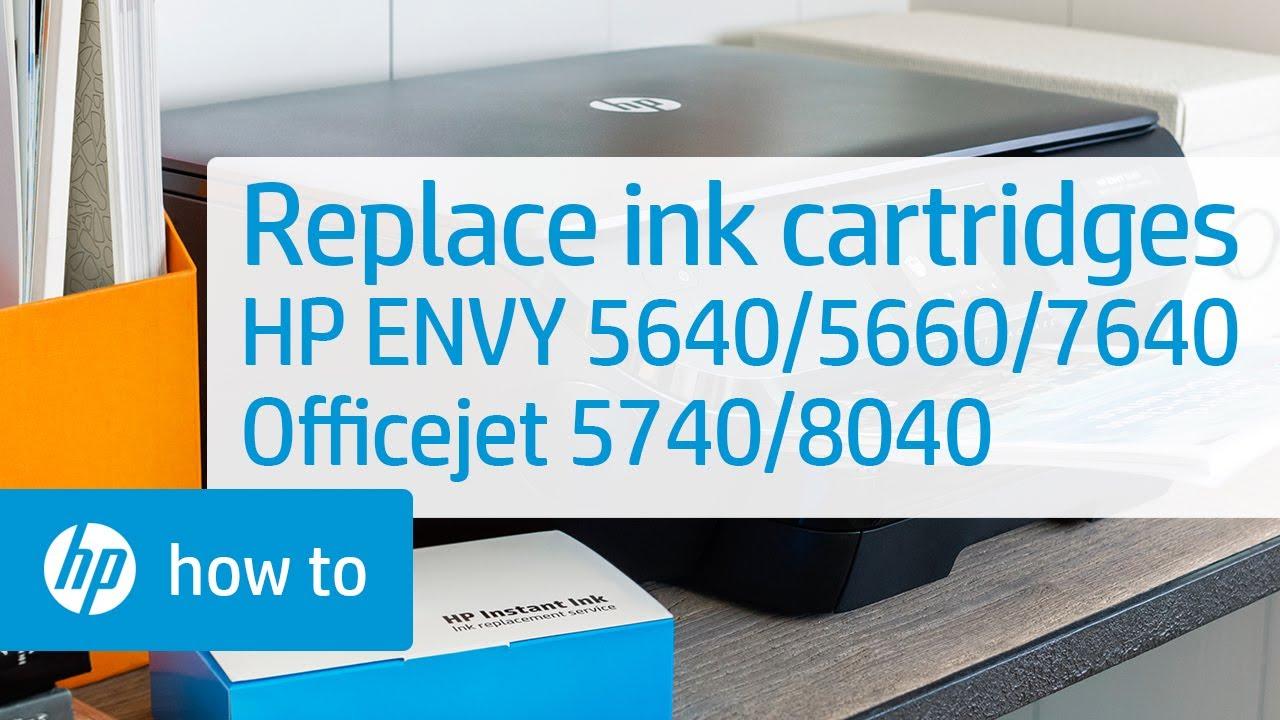 Replacing The Ink Cartridges Hp Printers Hp Youtube