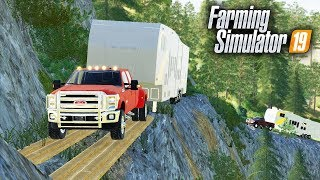 "FS19-   CAMPING TRIP! TAKING ""DEATH ROAD"" UP TO GRIZZLY MOUNTAIN 