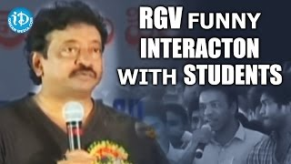 RGV Funny Interaction with Students || Karimnagar - Exclusive Part 2