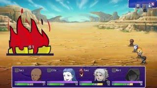 [RPG MAKER MV] SHOTY Animated enemy demonstration