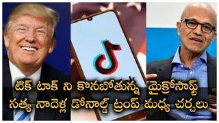 Microsoft Confirms Interest in Buying TikTok  CEO Satya Nadella  President Trump  TFPC