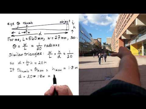 rule of thumb distances