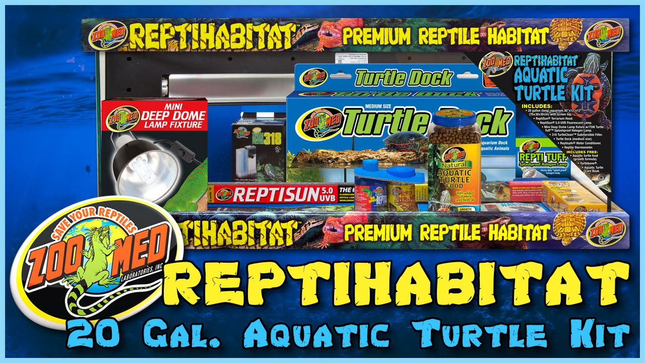 Zoo Med 20 Gallon Reptihabitat Aquatic Turtle Kit Youtube