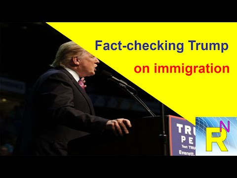 Read newspaper - Fact checking Trump on immigration