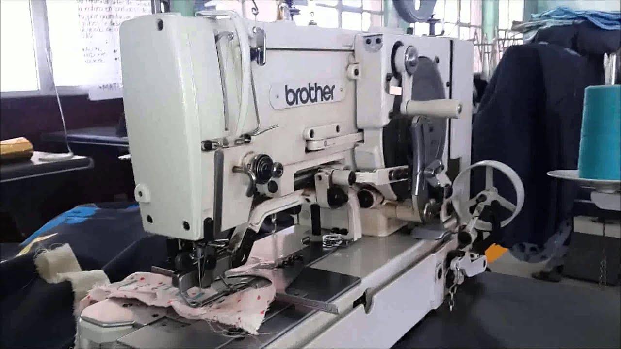 Reparacion de maquinas de coser maquina de ojal - YouTube
