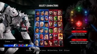MARVEL VS. CAPCOM: INFINITE DLC Fighter Pack 2 All Costume & Colors Swap!