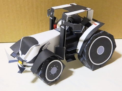いちまいでいのちトラクタVALTRA T234の作りかたペーパークラフト