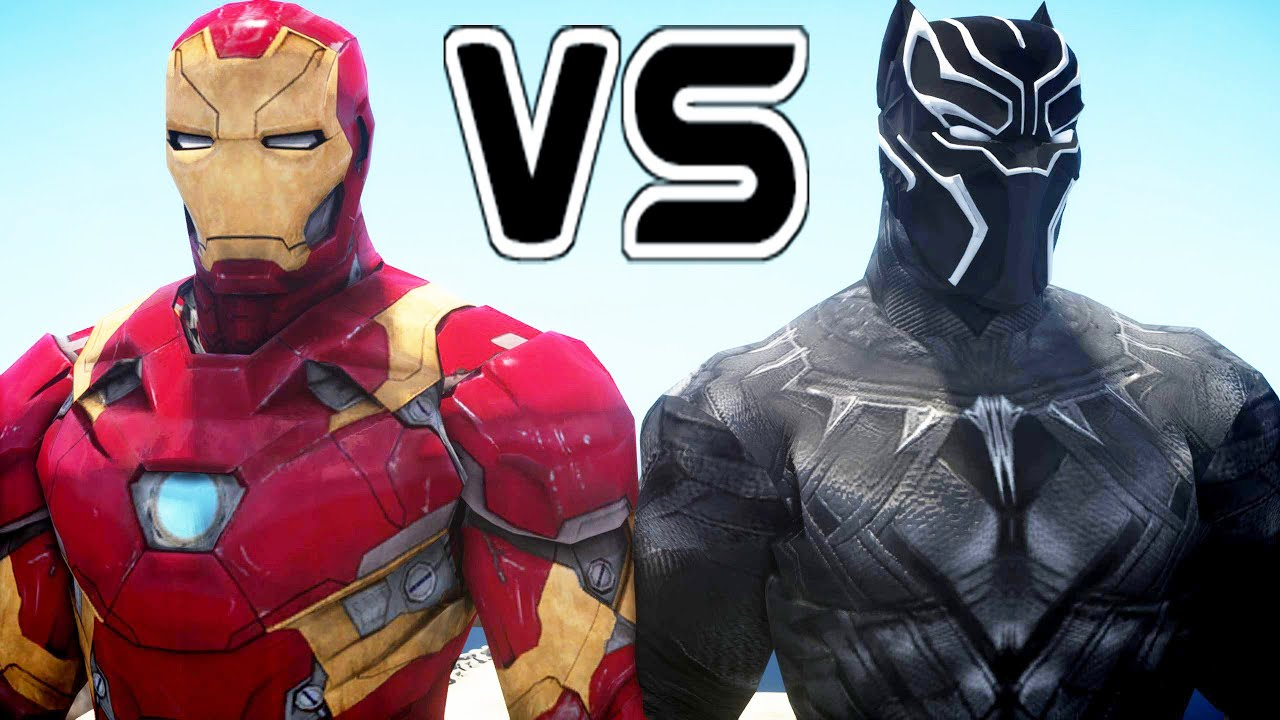 iron man vs black panther - superheroes battle - youtube
