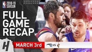 Orlando Magic vs Cleveland Cavaliers - Full Game Highlights | March 3, 2019 | 2018-19 NBA Season