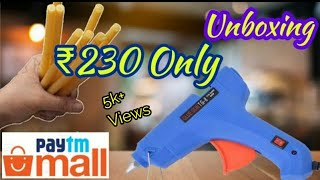 Hot Melt Glue Gun Unboxing And Full Review || How To Use Glue Gun Tutorial.
