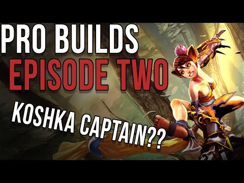 PRO BUILDS: EPISODE 2 | KOSHKA CAPTAIN?? | VAINGLORY | ANALYSING SOME COMPOSITIONS IN PRO VG