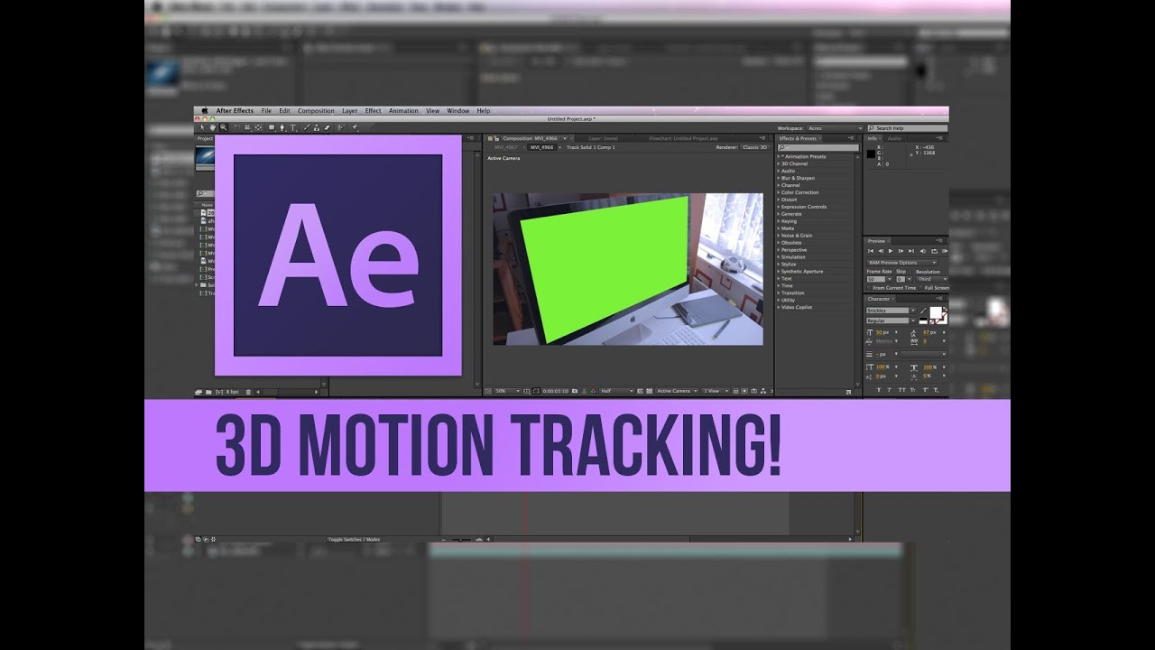 Adobe after effects cc tutorial | analyzing 2d footage with the 3d.