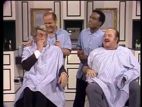 Dean Martin, William Conrad, Dom DeLuise & Nipsey Russell  Barbershop Sketch