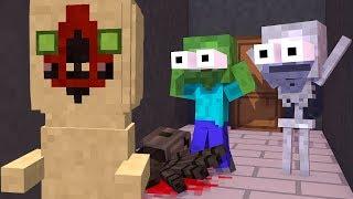 Monster School:  SCP CHALLENGE! Statue SCP-173 vs ZOMBIE – Minecraft Animation