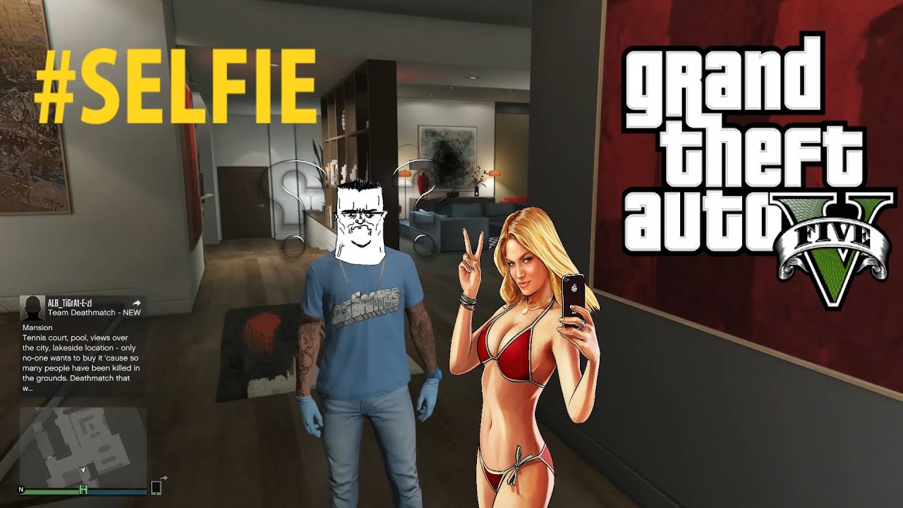 gta v funny moments selfie with kate upton p3 youtube