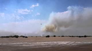 Avion hidrante/ Balneario Marisol Incendio 6 de enero del 2014