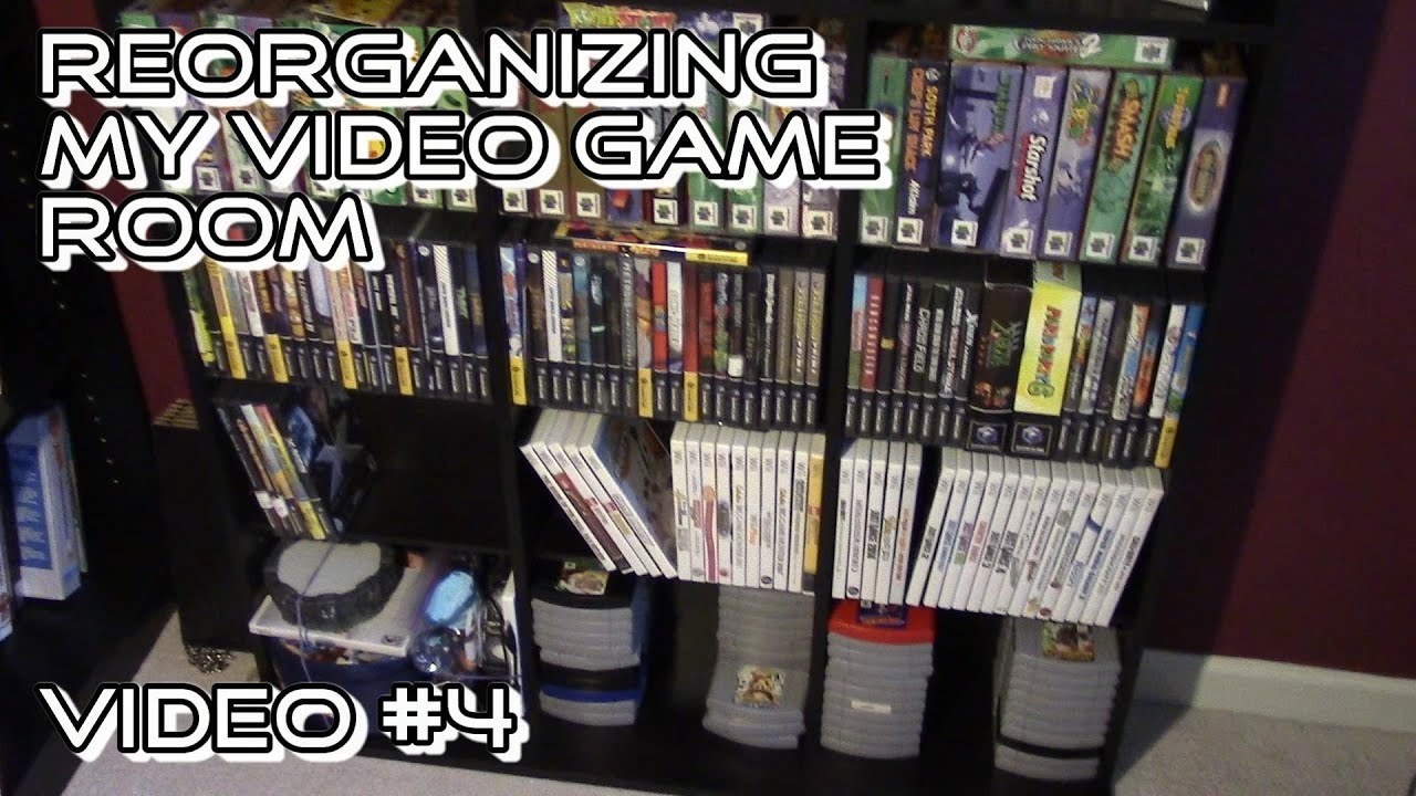 The Best Video Game Storage Shelves: Oskar Media Cabinet 1080 CD (aka Video  Game Room Update 4)   YouTube