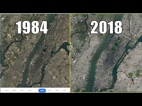 Amazing 3 Decade Time Lapse Of Manhattan New York By Google Maps