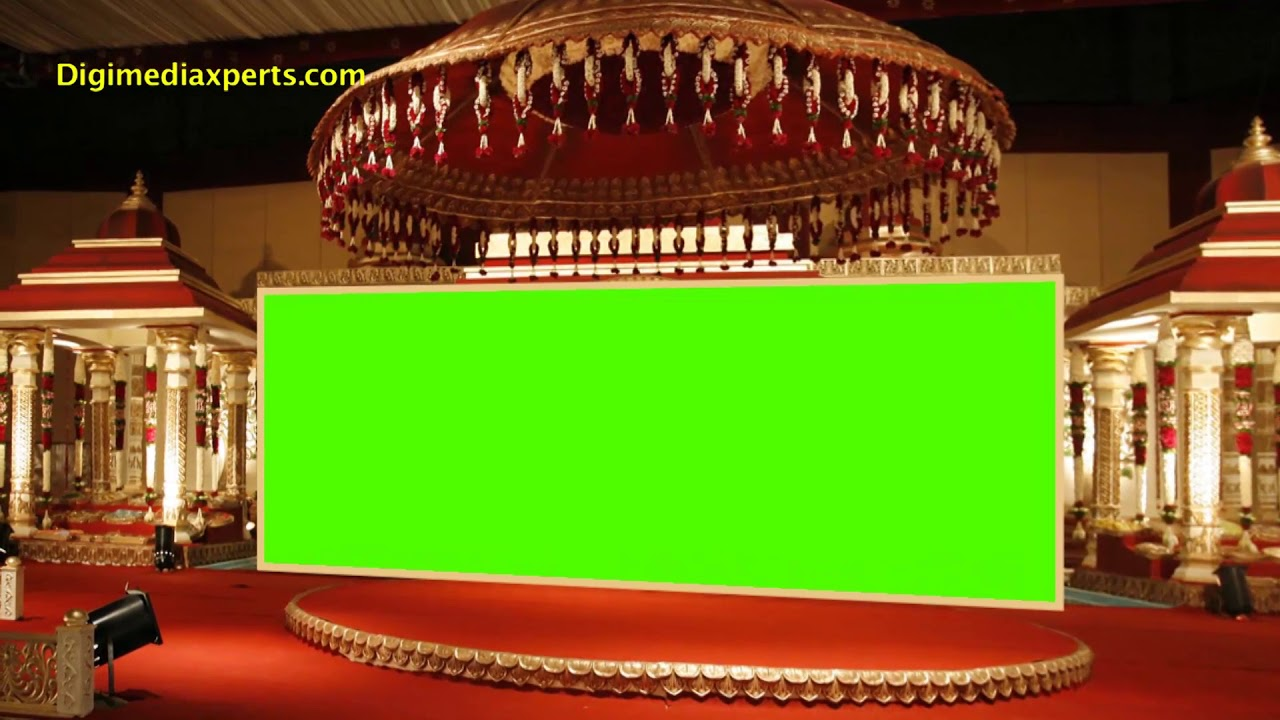 Wedding Stage Backdrop Frame Animation Video Dmx Hd Bg 410