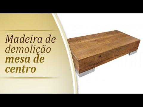 Mesa de centro rustica 1 20   Mesa de centro em madeira de demolicao   Moveis Rusticos em SP
