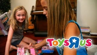 GIANT SURPRISE Egg 1 - Barbie, Monster High, and Play Doh - Toys R Us Shopping Spree Part 2