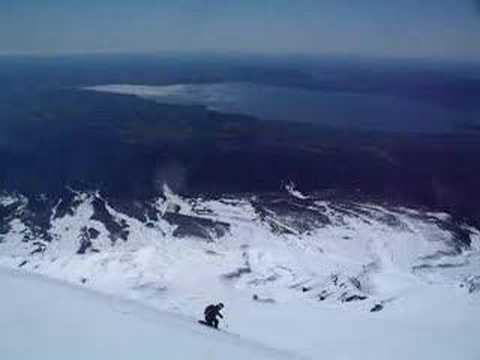 Ski Chile: J.Kuhle Skiing Volcan Villarica, Pucon, Chile