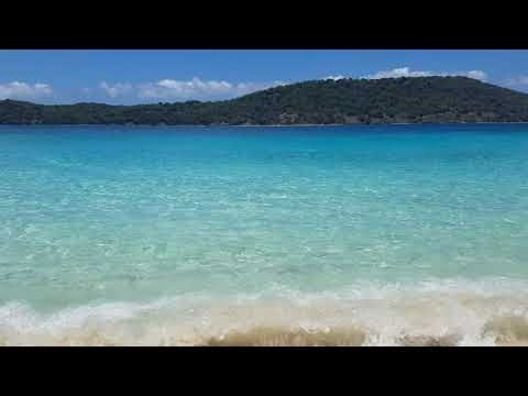 Crystal Clear Blue waters at Coki Beach St Thomas, USVI 2017