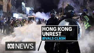 More brutal clashes in Hong Kong as protesters confront police | ABC News