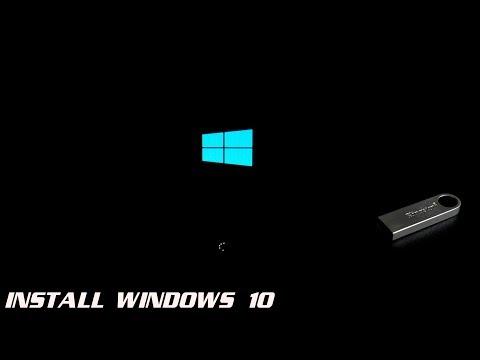 HOW TO INSTALL WINDOWS 10 W/USB FLASH DRIVE