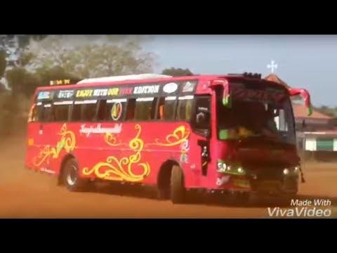 ബസ് കൊണ്ടുവരു പെർഫോമൻസ് .... Power full Drift with Kerala Tourist Bus - ROUN TRAVELS