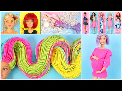 barbie-hairstyle,-clothes,-miniature-crafts,-hacks-and-mermaid-transformation---best-of-2020-part-1