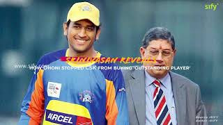 Srinivasan reveals how Dhoni stopped CSK from buying 'outstanding player'