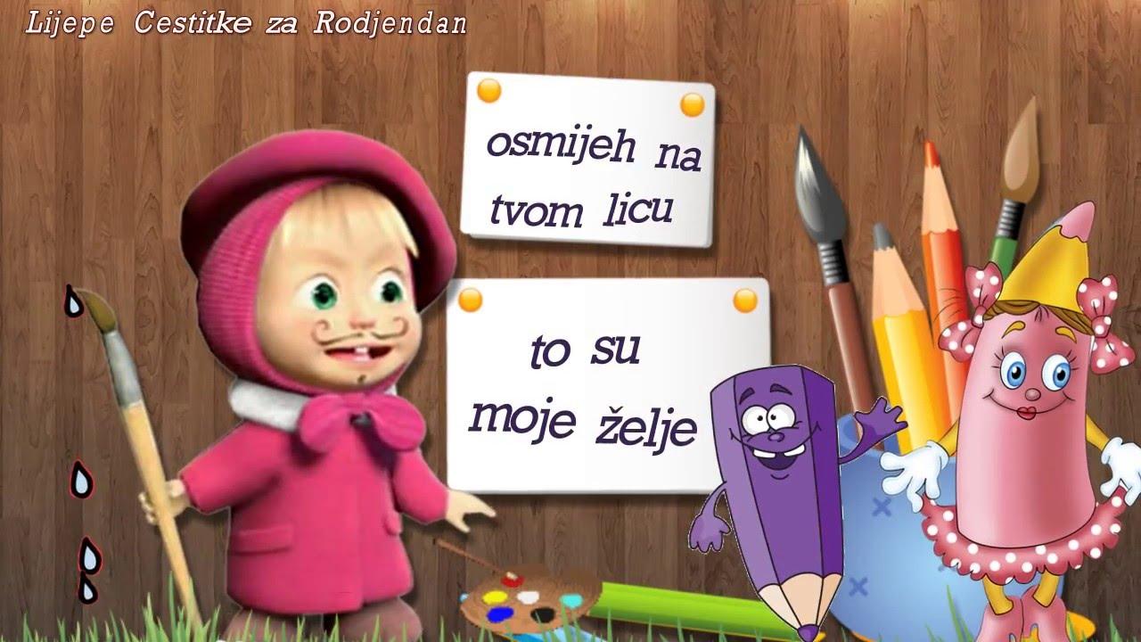 čestitke za rođendan maloj djeci Maša i medvjed   rođendanska čestitka •   YouTube čestitke za rođendan maloj djeci