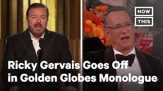 Ricky Gervais Goes Off in 2020 Golden Globes Monologue | NowThis