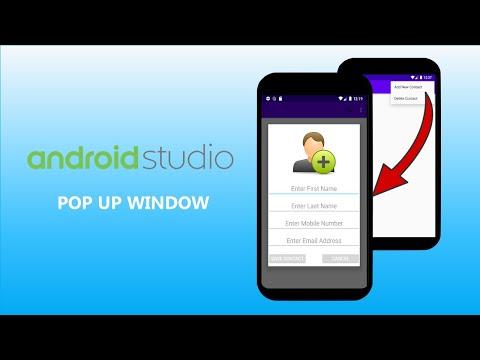 Android Studio - Pop Up Window