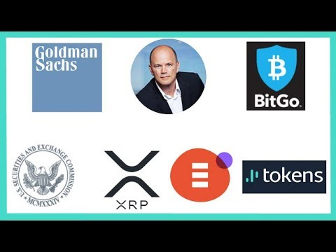Goldman Sachs Mike Novogratz BitGo - Genesis Global Trading - SEC FinHub - XRP Tokens.net