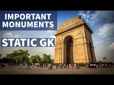 Important Monuments / places in India - Static GK