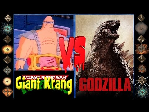 Giant Krang (TMNT) vs Godzilla (Original) - Ultimate Mugen Fight 2015