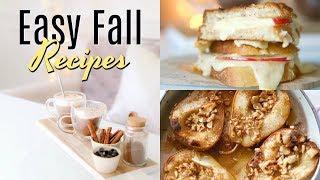 Easy Fall Recipes - iHeartFall Ep 9 MissLizHeart