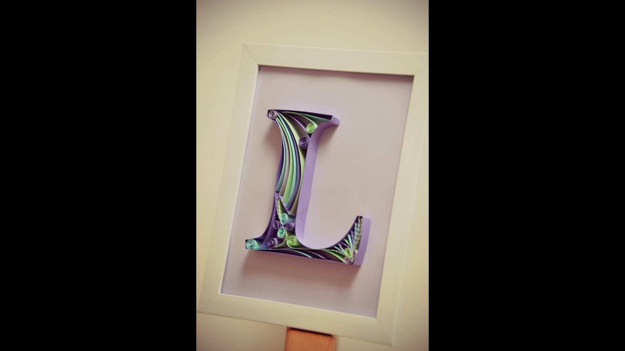 Diy paper quilling letter tutorial part 2 youtube altavistaventures Images