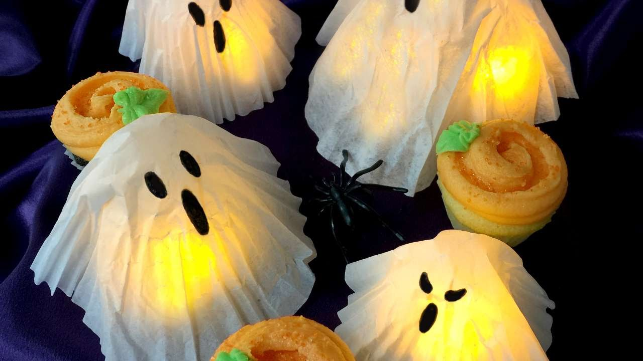 How To Create Cupcake Liner And Coffee Filter Ghosts Diy Crafts Tutorial Guidecentral