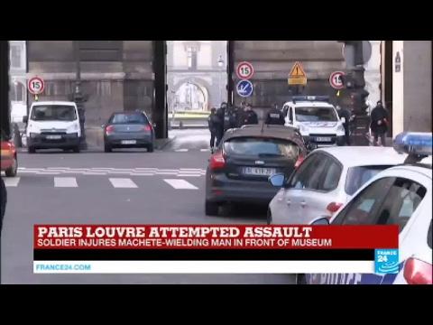 Paris: Soldier injures machete-wielding attacker shouting