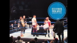Ethan Carter III EC3 Fired from Impact Wrestling Feast or Fired Briefcase 1/13/18