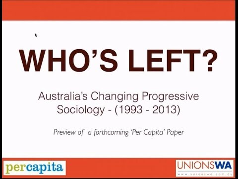 Who's Left? Australia's Changing Progressive Sociology by Daniel Mookhey, Per Capita