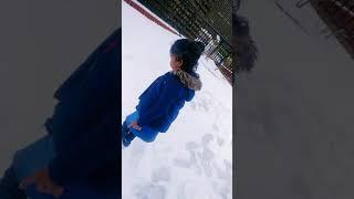 Stuti Playing with Snow..
