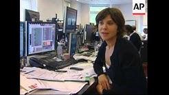 Activity at Paris stock market as European markets fall